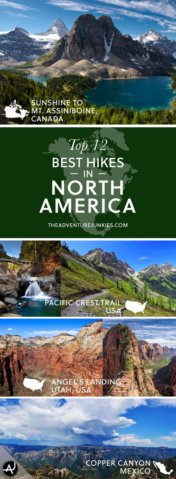 The Best Hikes in North America – Best Hiking Destinations – Hiking Bucket List – Beautiful Backpacking Places To Go On Vacation
