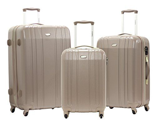 "Set de 3 Valises Trolley - UTOPIA ""XLITE 2"" - Polycabonate Ultra Leger - 4 Roues"