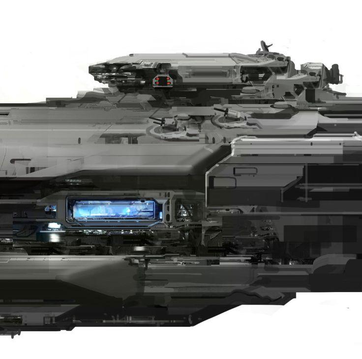 Forward Unto Dawn spaceship. Halo 4. Microsoft - 343 Industries.