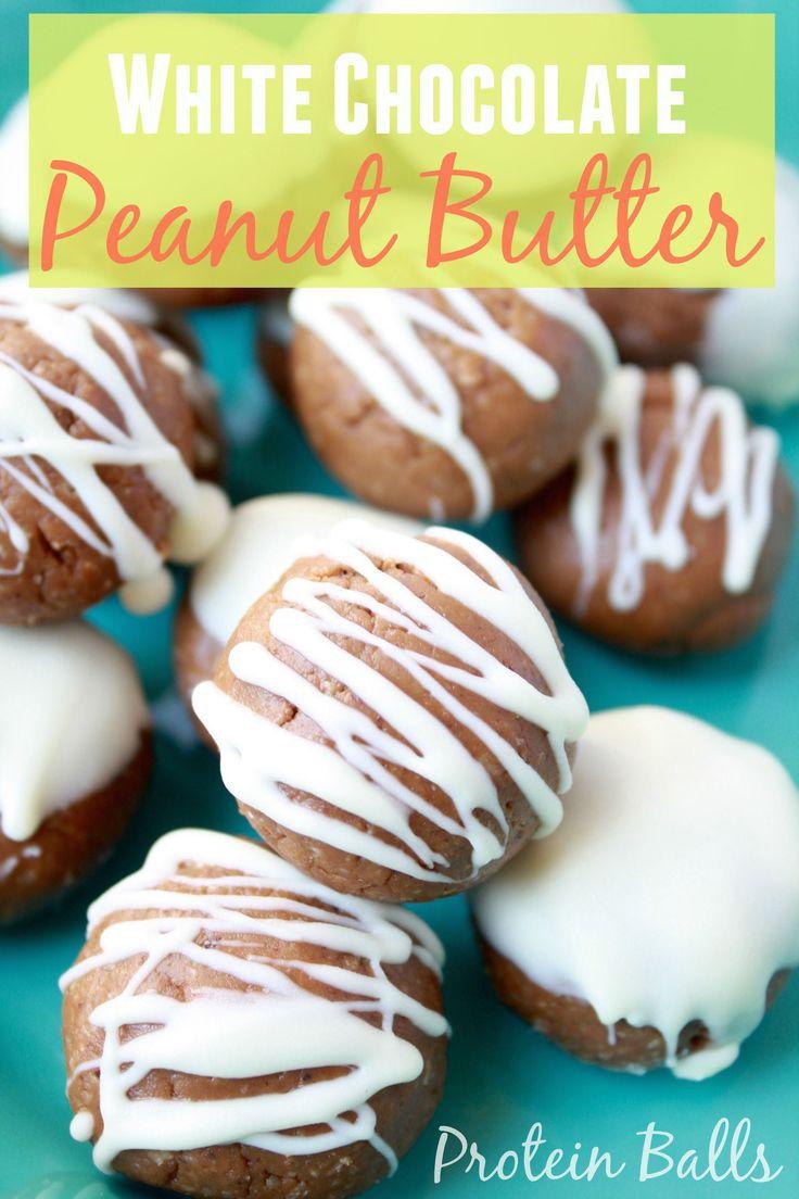 White Chocolate Peanut Butter Protein Balls [Fit Mitten Kitchen]