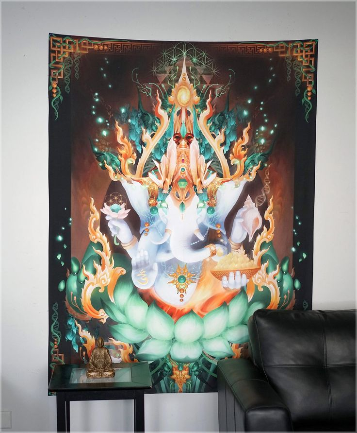 Galactik Genesh Tapestry by Geogliphiks - Threyda Art and Apparel