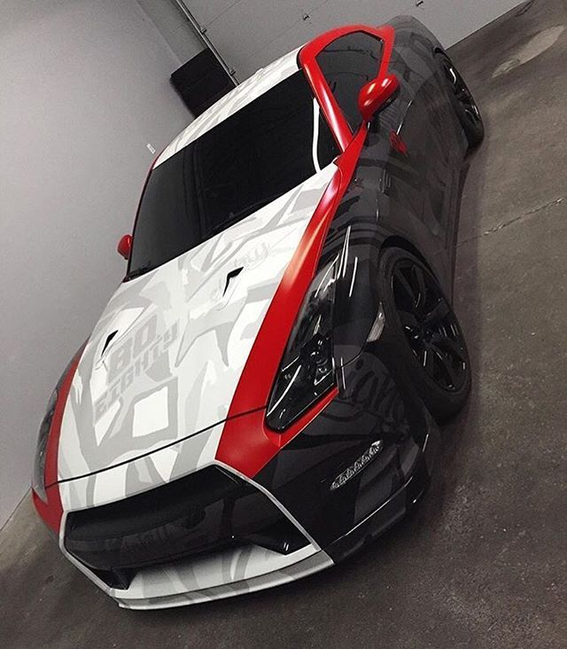 Dope GTR Check out @ecdcustoms for some trendy wraps! @ecdcustoms @ecdcustoms @ecdcustoms #CarsWithoutLimits