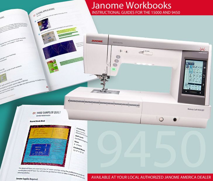 Janome Workbooks For The 15000 And 9450 Janome Sewing Hacks