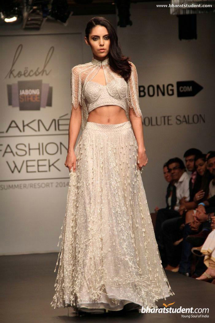 Lengha by Koecsh Vik By Kresha Bajaj Show at Lakme Fashion Week Summer/Resort 2014
