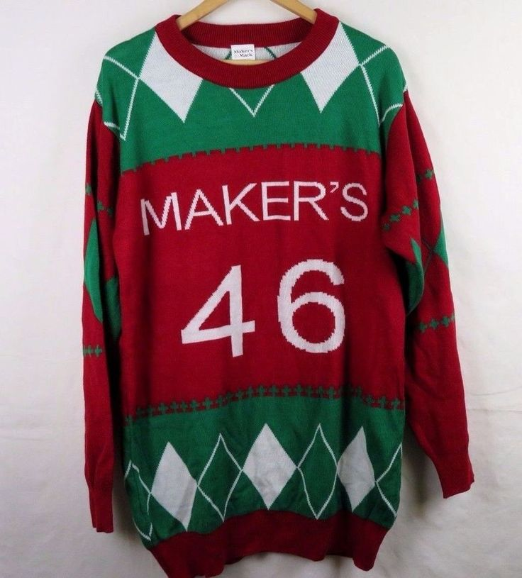 Maker's Mark 46 Ugly Christmas Sweater Men's XL Whiskey Limited Edition #MakersMark