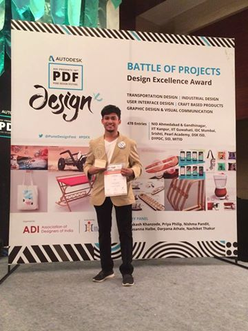 DSKIC-RUBIKA students dominate the design competition held at the 10th Pune Design Festival '16. Kaushal Dabak of Yr 4 -Transportation Design won the 'The Battle of Design Projects' while alumnus Raj Shekhar Das and his team came 2nd.