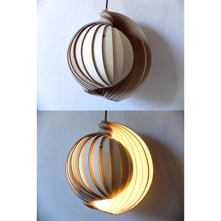 Beautiful Laminated fan lamp made out of birch ply by CharlotteKayDesigns Follow her here: -  https://www.instagram.com/charlottekaydesign/