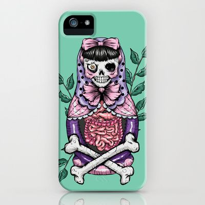 Zombie Russian Doll iPhone & iPod Case by Ella Mobbs - $35.00