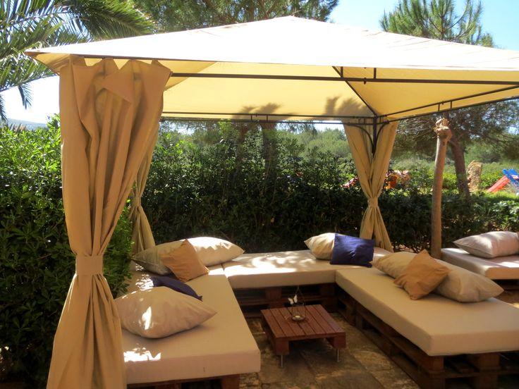 Chill out lounge at Naturplaya Hotel, Mallorca. Naturist Hotel.