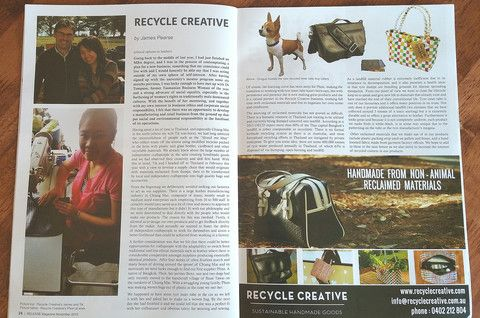 Recycle Creative - Release Magazine Article 2015