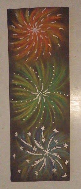 Kuivapastelliliitutyön koristelu hopea- tai kultatusseilla Anna idean kiertää!: tammikuuta 2015