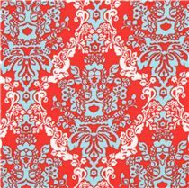 red ornament corduroy fabric Robert Kaufman Cool Cords - Ornament Fabric - Fabric