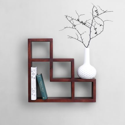 Shaz Living Elegant Wall Shelf Walnut - Add oodles of style to your home with an exciting range of designer furniture, furnishings, decor items and kitchenware. We promise to deliver best quality products at best prices.