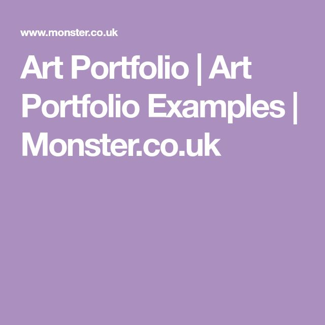 Art Portfolio   Art Portfolio Examples   Monster.co.uk