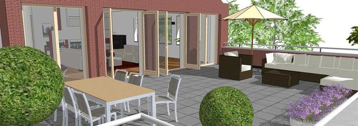 www.sketchupcursus.nl - SketchUp 3D - terras - penthouse