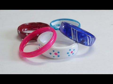 DIY crafts: Best Out Of Waste plastic bottle BRACELETS - Recycling plastic bottles - YouTube