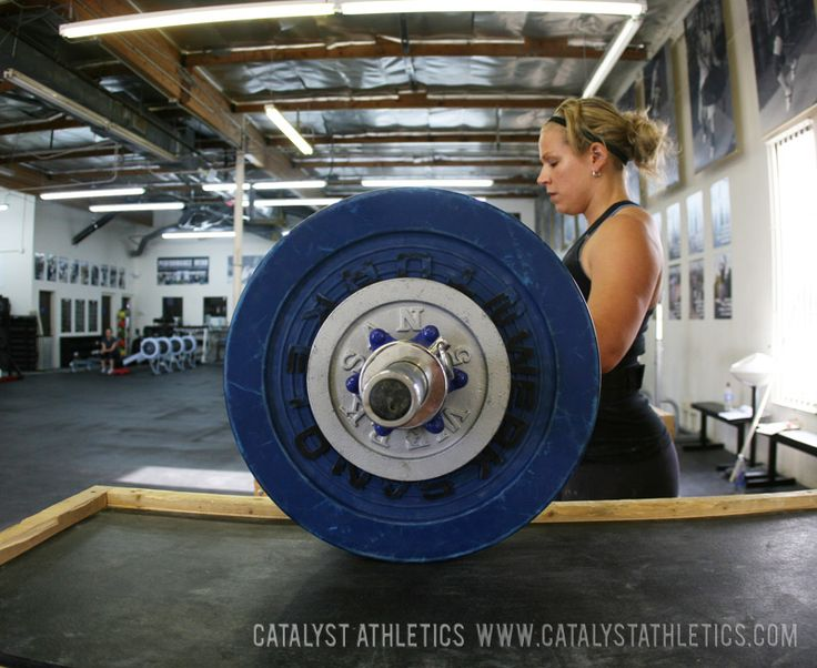 A simple 3-day per week program template for Olympic weightlifting and the snatch and clean and jerk from Greg Everett of Catalyst Athletics