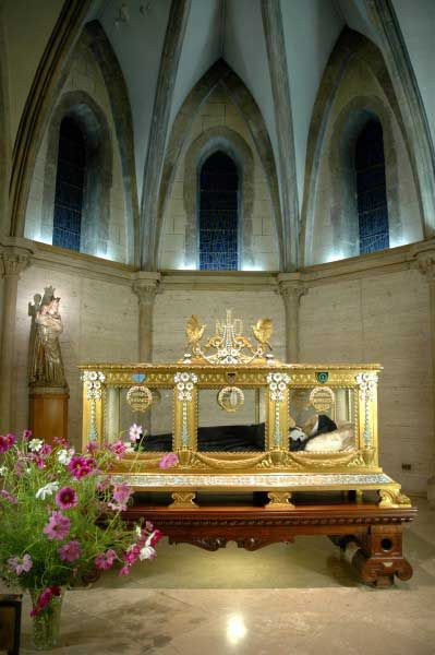 Shrine of St Bernadette Soubirous of Nevers France and her incorrupt Body which has not decayed