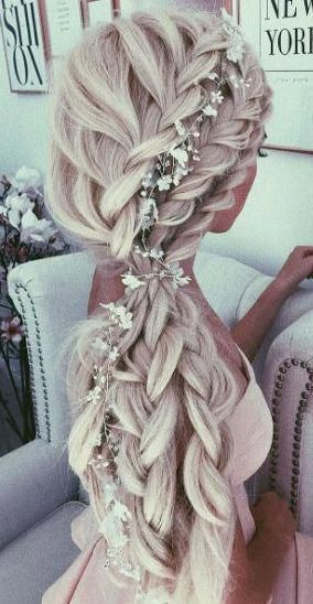 Amazing side braids for long hair #Weddinghairstyles