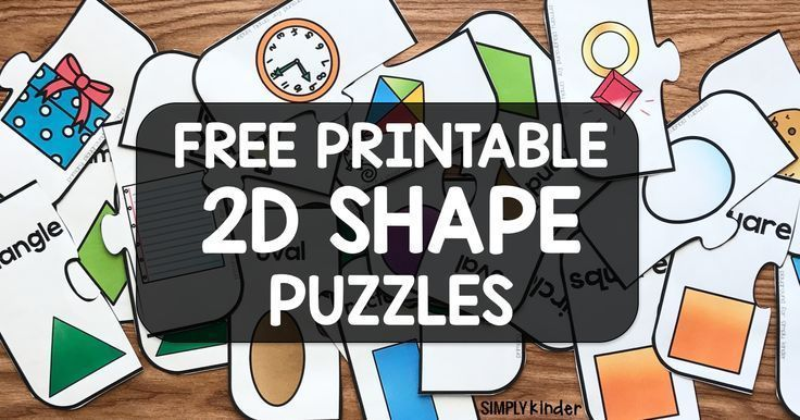 Free Printable 2D Shape Puzzle We've been learning about 2D shapes the past couple of weeks. I wanted to add them into our center rotation so I made 2D shape puzzles The students always love these puzzle games. The game is very easy to play. The student will choose either a shape of an object. …