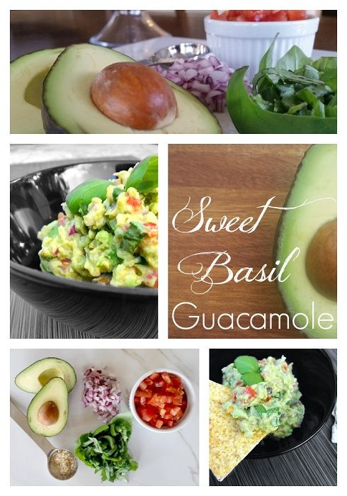 Sweet Basil Guacamole   Creamy & Satisfying Comfort Food   Healthy, Delicious   Great recipe from @In and Health   For MORE RECIPES please SIGN UP for our FREE NEWSLETTER www.NutritionTwins.com