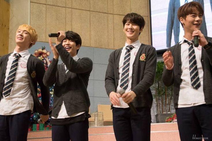 [29.12.15] Baekwoon Middle School - SanHa, MyungJun e MoonBin
