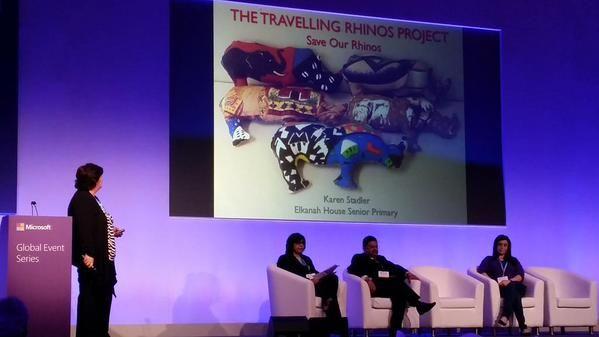 Mrs Karen Stadler presenting the Travelling Rhinos project at the Microsoft Global Forum in Dubai:http://www.elkanah.co.za/…/mrs-stadler-presents-travelling-… #proudElkanah #ictElkanah #greatteachersElkanah