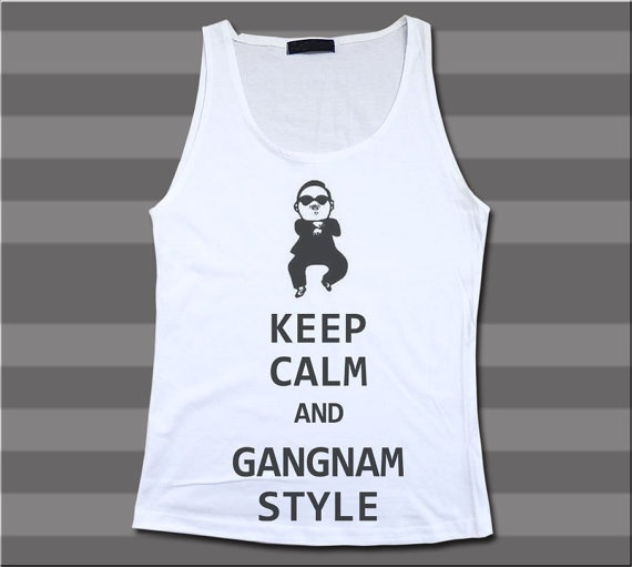 Psy Keep Calm And GANGNAM STYLE Korea Song by TShirtAddicted, $15.99