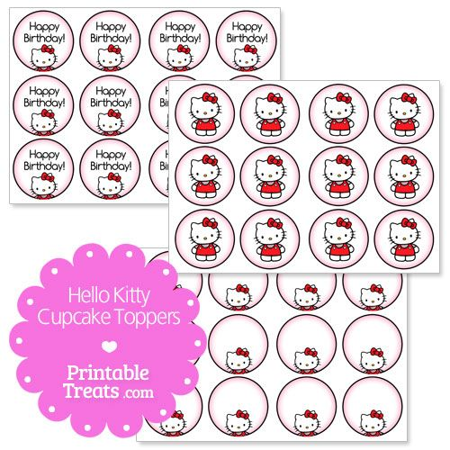 42 best patterns images on pinterest crayons easy for Hello kitty cupcake topper template