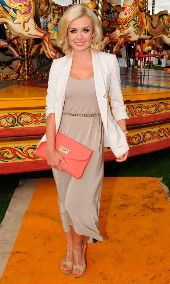 Katherine Jenkins At The Veuve Cliquot Gold Cup Polo, 2012