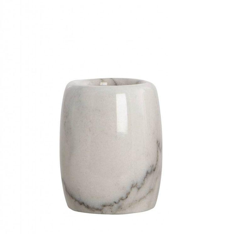Housedoctor Tandenborstel houder Marble grijs ø7,4x10cm