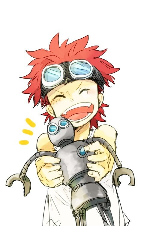 Eustass Kid. --  (okay, that's really cute)