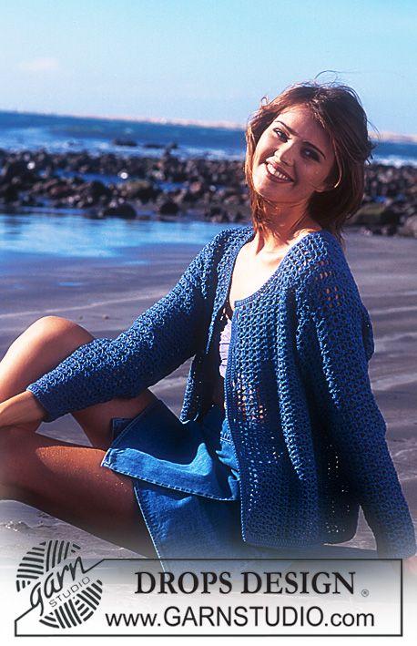 DROPS Crocheted cardigan in Muskat. ~ DROPS Design