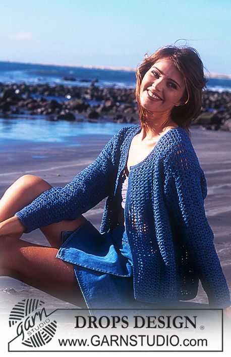 DROPS Crocheted cardigan in Muskat. ~ DROPS Design