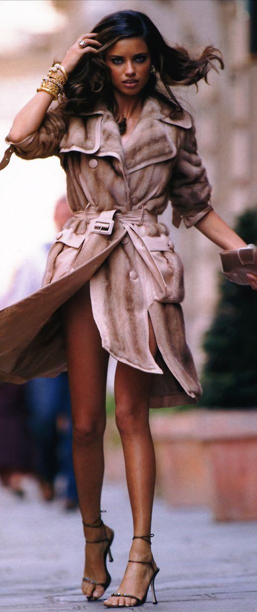 Adriana Lima...mink coat by Dior by John Galliano (2005)