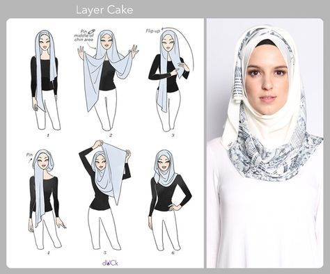 Layer Cake hijab tutorial by duckscarves.