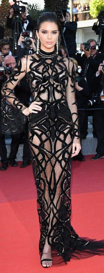Cannes 2016:  Kendall Jenner: Jewelry – Chopard  Dress – Cavalli