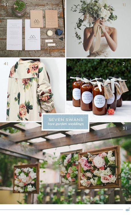 Swans love garden weddings