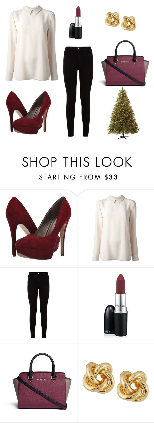 """Christmas dinner outfit idea"" by jedlickova-viki ❤ liked on Polyvore featuring Michael Antonio, STELLA McCARTNEY, 7 For All Mankind, MAC Cosmetics, Michael Kors and R.J. Graziano"