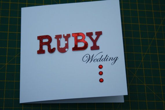 Unique Ruby Wedding Anniversary Gifts: 1000+ Ideas About Wedding Anniversary Cards On Pinterest