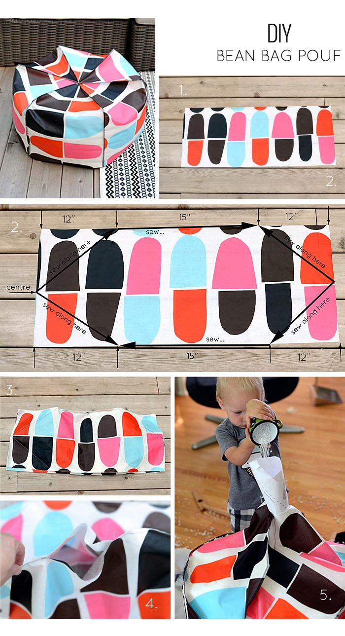 DIY Bean Bag Pouf - FREE Sewing Tutorial