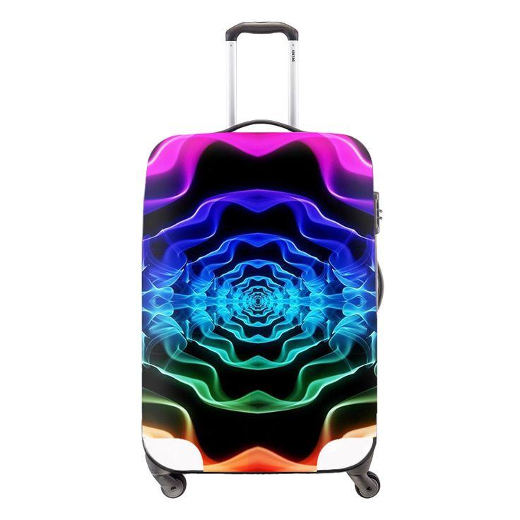 Пульсации распространение художественный стиль багажа тележки чехол защитные чехлы стрейч относятся к 18 до 30 дюймов чехол дорожные принадлежности