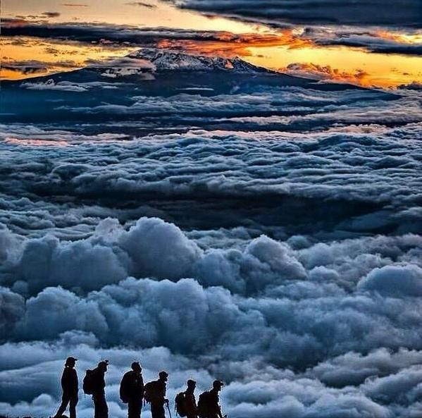 Even when your sky is full of clouds the sun still shines above ⛅️#quoteoftheday #Kilimanjaro rmalink