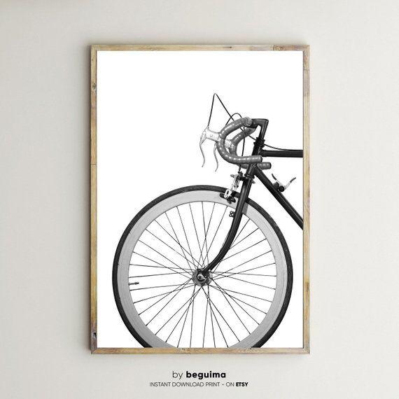 Print Nº 802 Bicycle Black White Photography