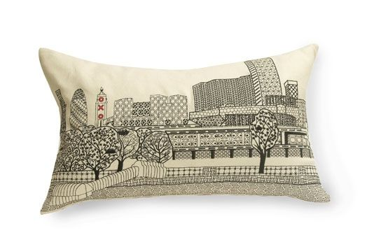 I love how Charlene Mullen uses the traditional craft of blackwork embroidery to create contemporary pieces.
