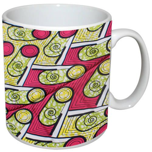Enjoy a nice cup of tea or coffee African style with this ankara inspired print mug