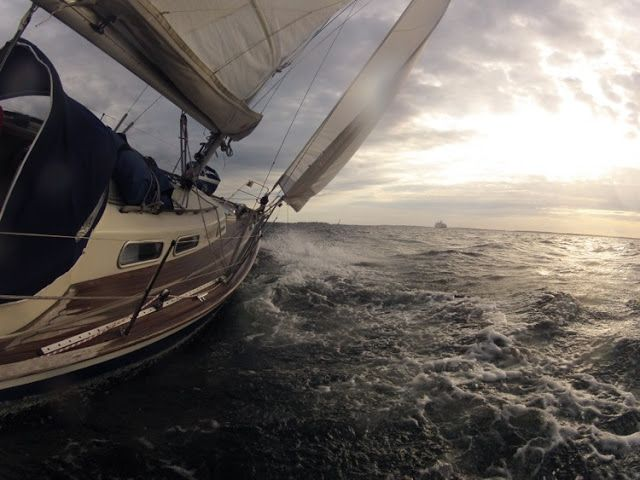 Crossing from Åland to Sweden - GoPro in action #sailing #boating #HR #HallbergRassy #HallbergRassy29