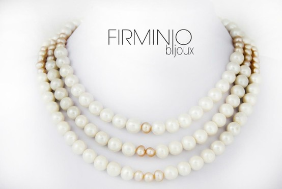 #Girocollo in #perle di fiume bianche e rosa, con gancio in #argento 925. #necklace with white and pink #pearls of river and #silver hook. $240
