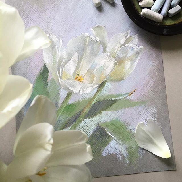 День Рождения прошёл, и наступил следующий праздник! Первый день Весны!Надеюсь солнышко скоро будет нас радовать своим теплом каждый день! А мне хочется сказать всем огромное спасибо за Ваши поздравления! Очень много тёплых слов и трогательных пожеланий Вы написали! Мне было очень приятно их получить! #пастель #рисуюпастелью #цветы #цветыпастелью #тюльпаны #softpastel #softpastels #canson #cansonpaper #tulips