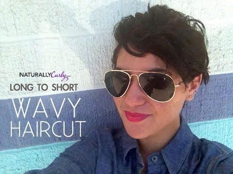NaturallyCurly.com's content editor Cristina chop off her waist length wavy hair! She was nervous, but she came prepared. Click to watch the video for tips on visiting a stylist!